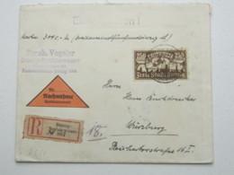 DANZIG , 250 M. Flugpost Als Einzelfrankatur Auf Einschreiben - NN- Brief - Danzig