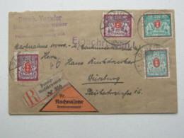 DANZIG , 750 M. Frankatur Auf Einschreiben - NN- Brief - Danzig