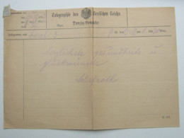 DANZIG , 1912 , Telegramm Aus Danzig Langfuhr - Danzig