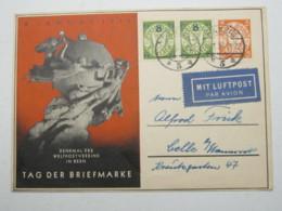 DANZIG , 1938 , 5 Pfg. Danzig - Ganzsache Als Luftpostkarte Nach Celle  , Rs. Viel Text - Danzig