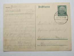 DANZIG , GROSSZÜNDER , Aptierter Stempel Auf Karte , Sehr Selten 1940 - Danzig