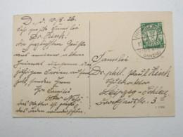 DANZIG , FISCHERBABKE  Stempel Auf Karte , Sehr Selten 1926 - Danzig