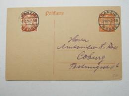 DANZIG , DANZIG MESSE Stempel Auf Karte , Sehr Selten 1924 - Danzig