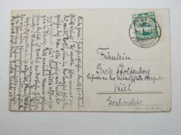 DANZIG , 40 Pfg. Luftpost Auf   Karte , Sehr Selten 1921 - Danzig