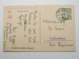 DANZIG , 10 Pfg. Bildganzsache WHW 1934 , Verschickt Aus Oliva , Sehr Selten - Danzig