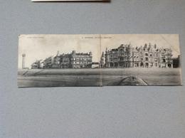Ostende Le Phare Digue Est Double Carte - Cartes Postales