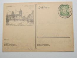 DANZIG , 10 Pfg. Bildganzsache 1933, Verschickt Aus STEEGEN, Sehr Selten - Danzig