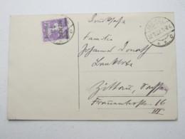 MEMEL , Karte Mit 75 Pfg. Auf 35 C. , Vom ERSTTAG Aus Memel  , Seltener FDC - Klaipeda