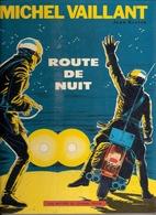 UNE HISTOIRE JOURNAL TINTIN MICHEL VAILLANT ROUTE DE NUIT EDITION 1962 PAGES GARDES 6 GROS CARRES BLEUS - Michel Vaillant