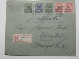 1923 , Einschreiben Mit 5 Werten Aus Hamburg Mit Ankunftstempel - Lettres & Documents