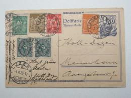 1923 , Ganzsache Aus Der Schweiz Nach Mannheim , Stempel Luzern - Deutschland