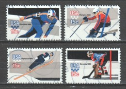 United States USA 1980 Mi 1411-1413A (t11.1/4x10.3/4) Canceled WINTER OLYMPICS - Used Stamps