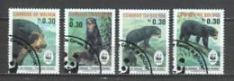 Bolivia 1991 Mi 1137-1140 WWF BEARS - W.W.F.