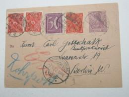 1922 , Rohrpost , Ganzsache Mit Zusatzfrankatur - Deutschland