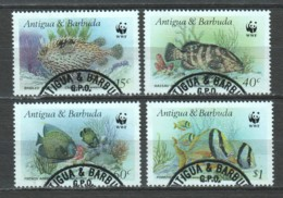 Antigua & Barbuda 1987 Mi 1010-1013 WWF FISHES - W.W.F.