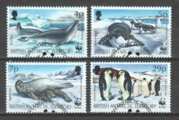 British Antarctic Territory 1992 Mi 193-196 WWF SEALS & PENGUINS - W.W.F.