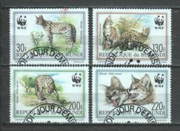 Burundi 1992 Mi 1758-1761 WWF SERVAL - W.W.F.