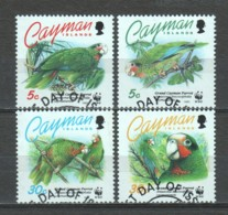 Cayman Islands 1993 Mi 690-693 WWF PARRIOTS - W.W.F.