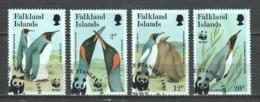 Falkland Islands 1991 Mi 538-541 WWF PENGUINS - W.W.F.