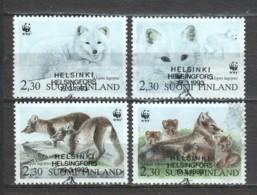 Finland Suomi 1993 Mi 1202-1205 WWF WOLFS - W.W.F.