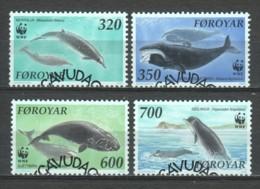Faroe Islands 1990 Mi 203-206 WWF WHALES DOLPHINS - W.W.F.
