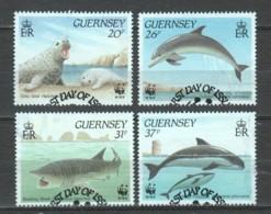 Guernsey 1990 Mi 497-500 WWF SEA MAMMALS - W.W.F.