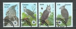 Guyana 1990 Mi 3077-3080 WWF BIRDS OF PREY - W.W.F.