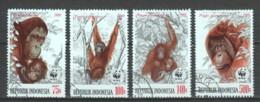 Indonesia 1989 Mi 1291-1294 WWF ORANG-UTAN (SEE SCAN) - W.W.F.