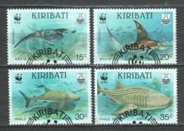Kiribati 1991 Mi 566-569 WWF SHARKS & RAYS - W.W.F.