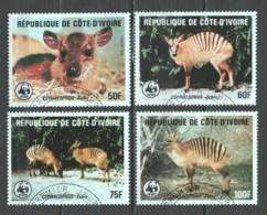 Ivory Coast 1985 Mi 881-884 WWF _ ANTELOPES - ZEBRA DUIKER - W.W.F.