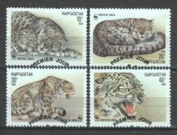 Kyrgisia 1994 Mi 22-25 WWF LEOPARD - W.W.F.