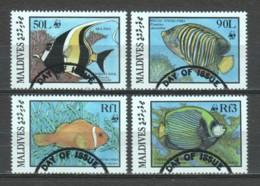 Maldives 1986 Mi 1198-1201 WWF FISHES - W.W.F.