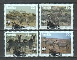 Namibia 1991 Mi 702-705 WWf ZEBRA - W.W.F.