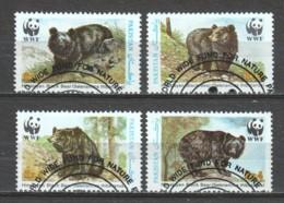Pakistan 1989 Mi 759-762 WWF BEARS - W.W.F.