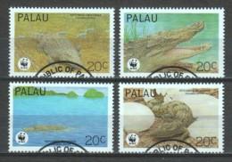 Palau 1994 Mi 690-693 WWF CROCODILES - W.W.F.