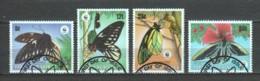 Papua New Guinea 1988 Mi 574-577 WWF BUTTERFLIES - W.W.F.