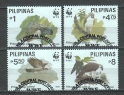 Philipines 1991 Mi 2038-2041 WWF BIRDS OF PREY - W.W.F.