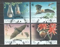 Samoa 1993 Mi 754-757 WWF BATS - W.W.F.