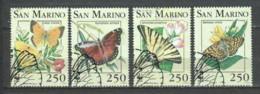 San Marino 1993 Mi 1535-1538 WWF BUTTERFLIES - W.W.F.