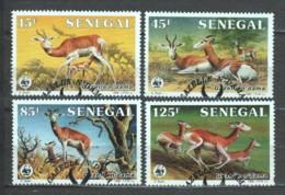 Senegal 1986 Mi 875-878 WWF ANTELOPES - W.W.F.
