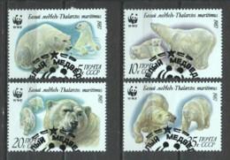 Sovjet Union 1987 Mi 5694-5697 WWF POLAR BEARS - W.W.F.