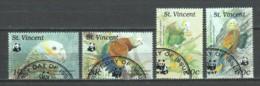 St Vincent 1989 Mi 1222-1225 WWF PARROTS - W.W.F.