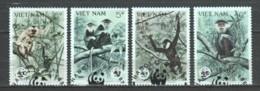 Vietnam 1987 Mi 1827-1830 WWF MONKEYS - W.W.F.