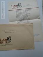 ZA168.4 Cover - FÜLES Editorial Letter - 1971 Autograph Hidvéghy Ferenc - Unpublished Poem  To Pásztor Endréné - Autographs