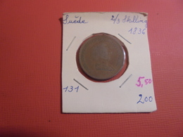 SUEDE 2/3 SKILLING 1836 (A.3) - Suède