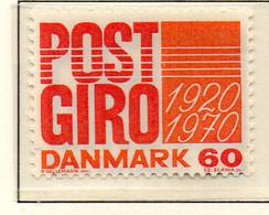 PIA - DANIMARCA -1970 : 50° Del Servizio Degli Assegni Postali  - (Yv 499) - Denmark