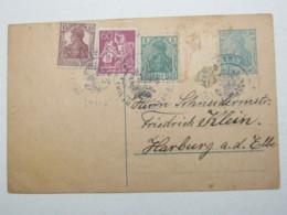 1922 ,  THUMBY , Dienstsiegel Entwertung Auf Ganzsache - Deutschland