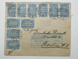 1923 ,  2000 Mk. Als Seltene Mehrfachfrankatur Aus Königswinter - Lettres & Documents