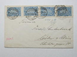 1923 ,  2000 Mk. Als Seltene Mehrfachfrankatur Aus Köln - Lettres & Documents