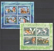 E005 2007 S.TOME E PRINCIPE FAUNA MARINE LIFE STEVE IRWIN BIRDS OWLS 2KB MNH - Owls